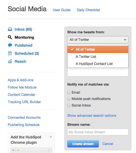 Social Inbox Streams