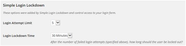 simple login lockdown