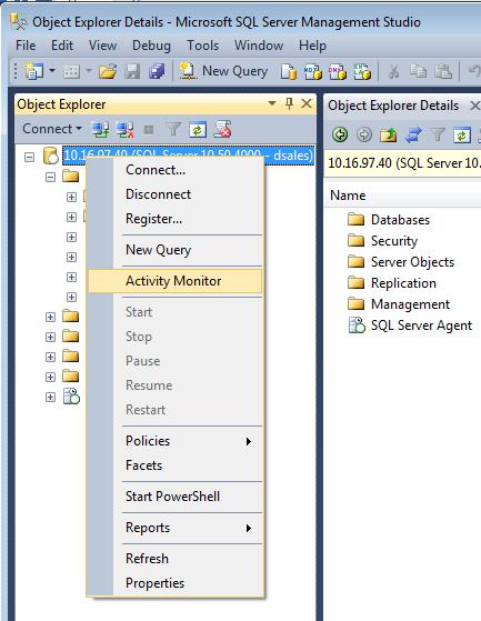 SQL Server Activity Monitor 1