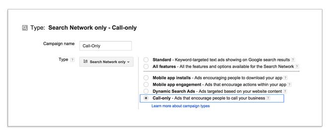 Call-only Ad Setup