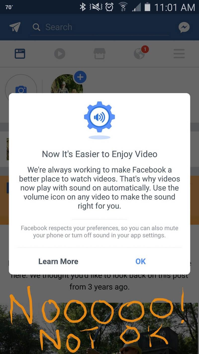 Facebook Auto Play Sound