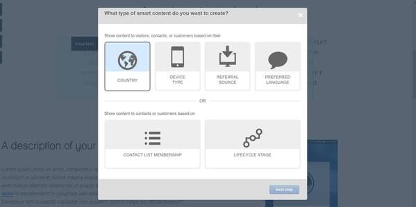 HubSpot's Smart Content Options