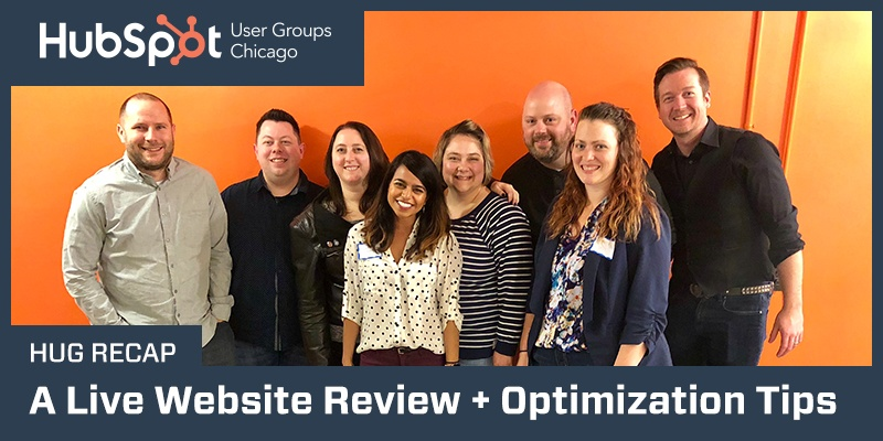 HUG recap: a live website review optimization tips