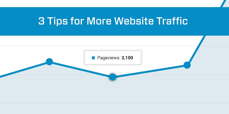 3 Tips for More Website Traffic