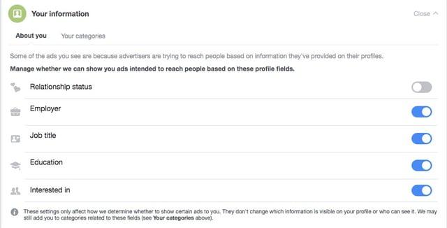 Your Information Facebook