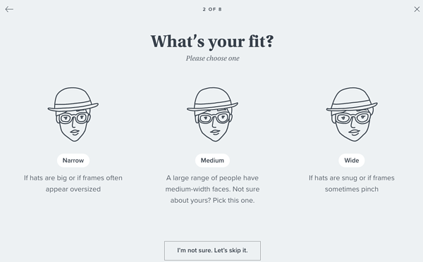 Warbey Parker screenshot