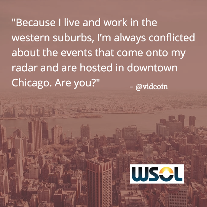 Do you live in the 'burbs and network in downtown Chicago? What options?