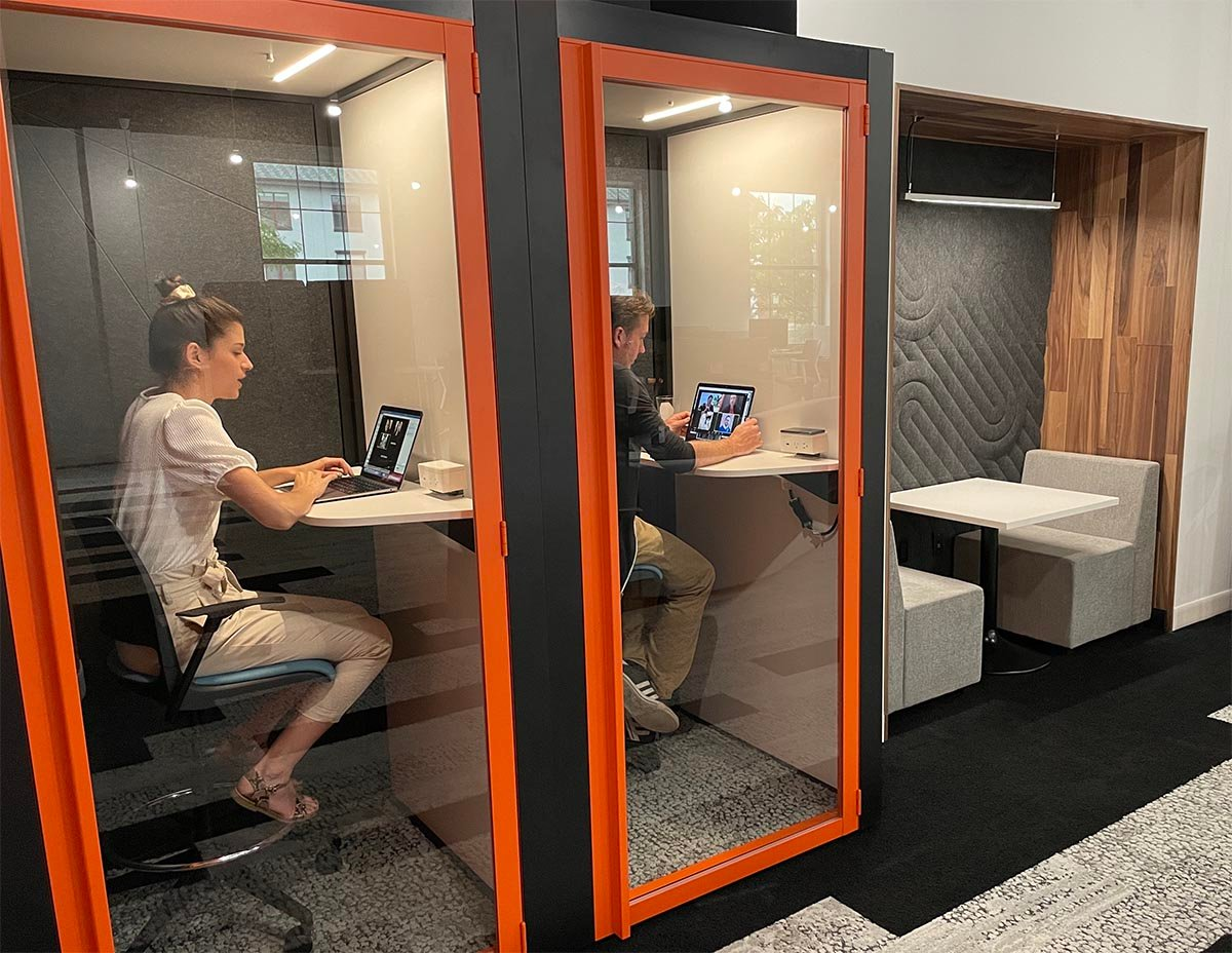 Sound-proof privacy pods