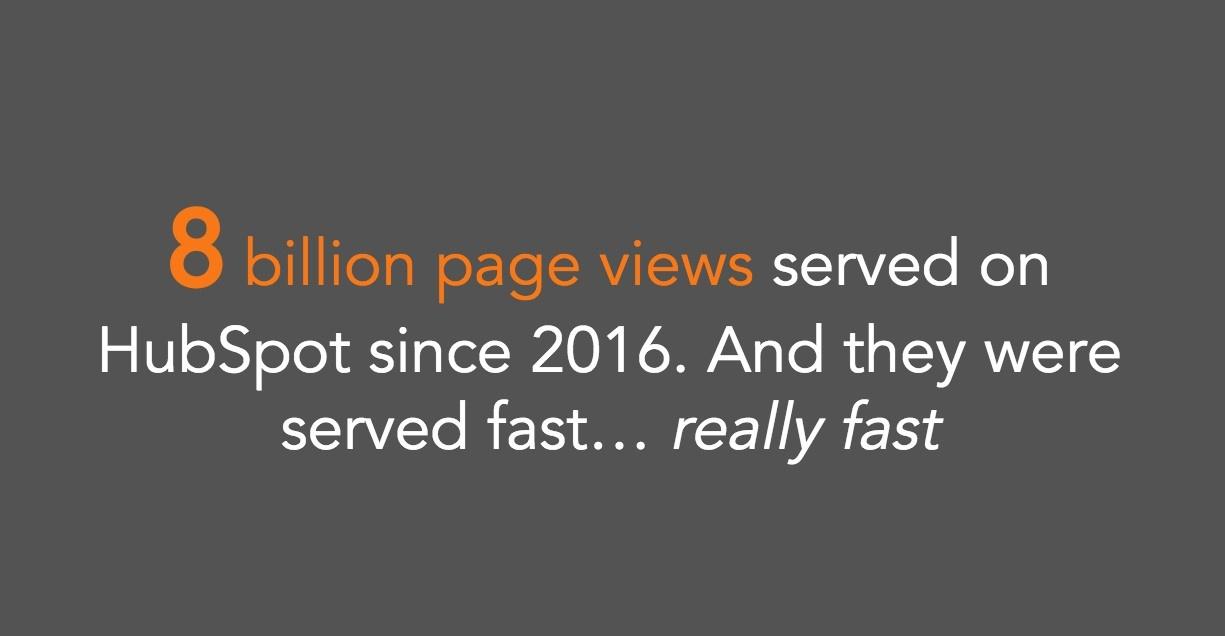 HubSpot 8 Billion Page Views
