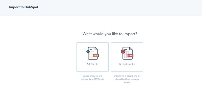 HubSpot Import