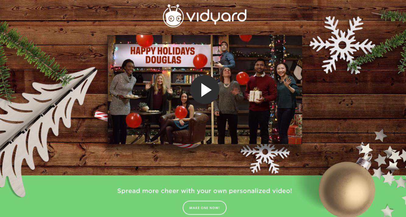 Vidyard Personalized Video