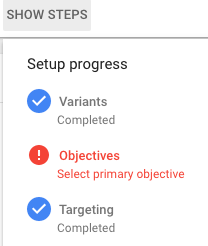 Scientific Method Steps with Google Optimize