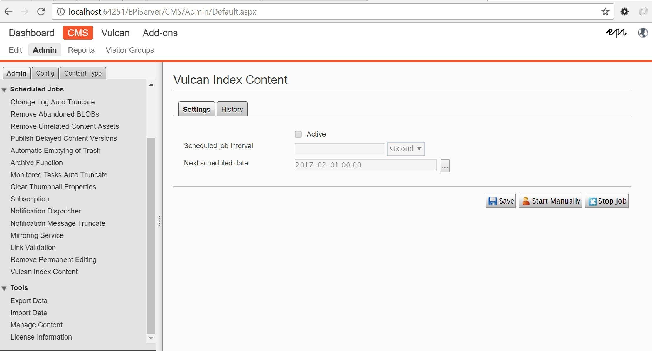 Vulcan index content